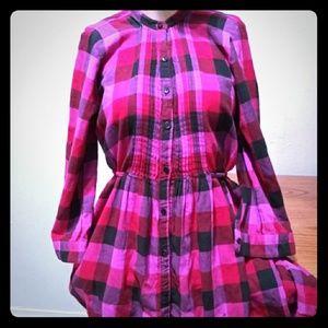 Victoria's Secret Pink/Black Checkered Button Down